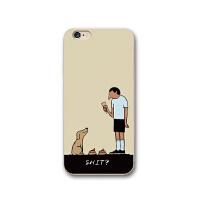 创意恶搞iphone7plus手机壳趣味卡通苹果6s全包硅胶X软壳8p保护套