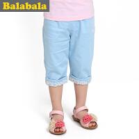 巴拉巴拉童装女幼童七分裤幼童宝宝儿童夏装