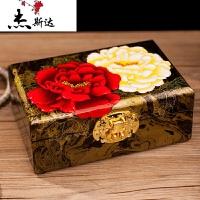 平遥推光首饰盒漆器手工首饰盒梳妆饰品盒结婚收纳盒婚礼木质