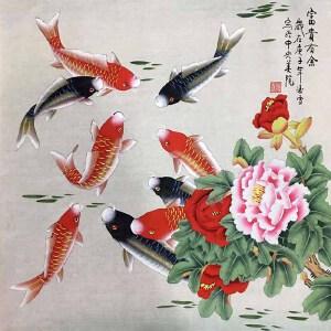 当代工笔画画家,北京九久书画收藏文化交流中心画家,北京美协会员,北京著名工笔画画家凌雪(富贵有余)