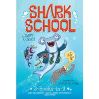 【�A�】Shark School 3-Books-In-1!: Deep-Sea Disaster; Lights! C