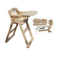 儿童餐椅实木宝宝椅便携可折叠婴儿餐椅多功能宝宝餐椅酒店bb凳子 散装无油漆 普通款