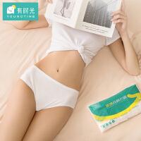 YOUNGTIME/有时光 一次性内裤男女旅游出行纯棉免洗成人三角内裤5条袋装