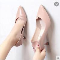 高跟鞋女细跟百搭仙女风韩版百搭尖头性感猫跟单鞋女职业女鞋