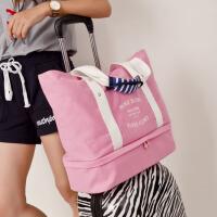 旅行包女健身包衣物收纳袋旅游包可套拉杆箱行李袋单肩帆布手提包 大