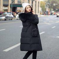 羽绒服女秋冬羽绒服修身长款韩版外套 S 建议100斤以下