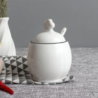 北欧陶瓷调味罐厨房用品家用调料盒套装调味瓶两件套油盐罐糖罐