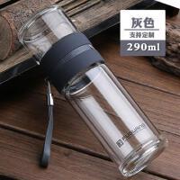 茶水分离泡茶杯双层玻璃杯创意随手杯过滤杯子水杯便携泡茶师