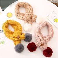 婴儿围巾秋冬季宝宝保暖毛线围巾儿童百搭针织围脖