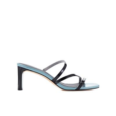 【网易严选 顺丰配送】女式极简线条凉拖鞋 7cm跟高,极简的性感