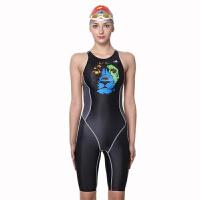 YINGFA英发 635 636泳衣 女士数码印花连体五分泳衣裤舒适训练泳衣
