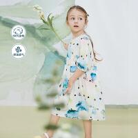 迷你巴拉巴拉女童连衣裙2020夏装新款儿童宝宝童装萝卜袖公主裙子