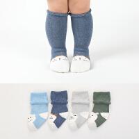 婴儿袜子秋冬季0-1-3岁宝宝袜保暖毛圈0-6-12个月