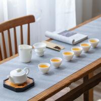 景德镇白玉瓷羊脂玉功夫茶具套装家用6人办公泡茶壶茶杯整套礼盒