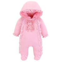 新生幼儿服装0-1岁女宝宝秋冬装婴儿连体衣服3个月6加厚2冬季