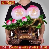 玉石寿桃摆件长辈祝贺寿大寿7080给父母爷爷奶奶老人创意生日礼物