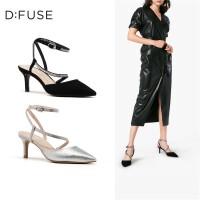 迪芙斯(D:FUSE)2019春专柜同款羊皮革水钻细带显瘦细高跟女单鞋DF91114009
