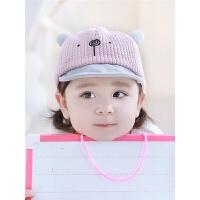 婴儿帽子秋冬0-3-6-12个月男女宝宝鸭舌帽春秋棒球帽韩版潮