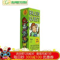 英文原版�和��W�卡片字卡BrainQuestMyFirstAges2-3Revise