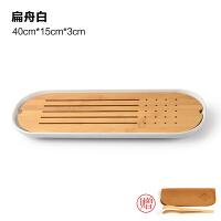 陶瓷茶盘日式家用竹托盘功夫茶具套装圆形简约干泡迷你小茶台