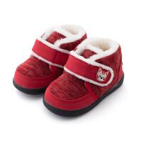 男童二棉鞋2018新款毛毛鞋女宝宝冬鞋fang滑软底棉鞋外穿1-2-3岁