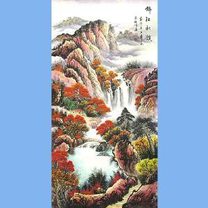 中国美术家协会会员,龙云书画院院长候桂峰(锦江秋韵)3