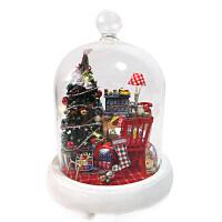 小屋手工制作快乐的日子玻璃屋模型拼装玩具屋创意圣诞礼物女 快乐的日子+工具包
