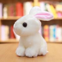 小白免毛绒玩具 兔子毛绒玩具可爱仿真兔兔公仔小白兔玩偶少女心娃娃女生