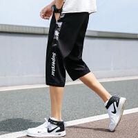 裤子男士七分夏季新款韩版潮流宽松薄款运动休闲五分学生中裤短裤K701