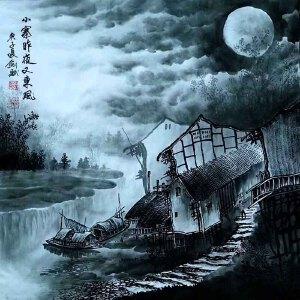 现为越世阁画院院长,中国艺术学会会员,艺宝在线特聘画家易剑赋(小寨昨夜又东风)