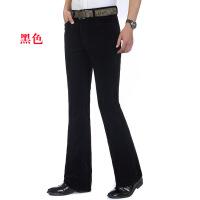 春季新款免烫灯芯绒面料男士喇叭裤中腰弹力灯芯绒男士休闲微喇裤