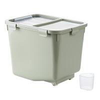 带轮防虫米箱厨房米桶10kg塑料防潮米缸储米箱装米面收纳箱