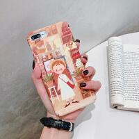 复古女孩苹果6splus手机壳6s新款iPhone6硬壳苹果XR全包防摔XS磨砂女潮男套iPhone iPhoneXR