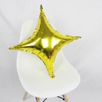 年会装饰 结婚礼装饰气球生日派对年会店铺活动店庆布置用品四角星铝膜气球
