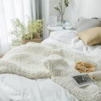 北欧沙发毯灰色毛毯毛线单人搭巾纯色针织毯毛毯床毯子 130x160cm