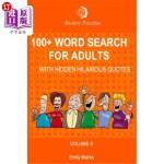 【中商海外直订】100+ Word Search for Adults: With Hidden Hilarious