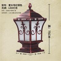 太阳能柱头灯户外围墙大门柱子太阳能灯户外防水家用柱头灯院围墙灯庭院灯别墅花园灯大门柱子灯