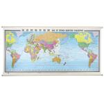 世界海运交通图(中英对照)(膜图)(三全 2210mm*1080mm)
