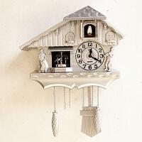 新款欧式田园德国版黑森林布谷鸟咕咕钟玩偶跳舞壁挂钟静音时钟表 20英寸