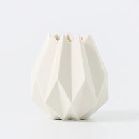 北欧风格折纸陶瓷花瓶摆件马卡龙系列仿真花假花花艺套装客厅电视柜插花器
