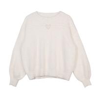 甜美网红很仙的上衣洋气毛衣女百搭慵懒风超火小清新打底衫 白色 预售12.31后发
