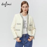 伊芙丽冬装时尚气质长袖短外套女1AA110261