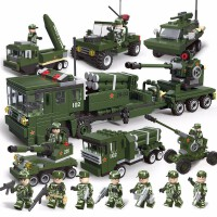 儿童益智积木拼装玩具男孩子智力军事坦克飞机6模型12岁拼插