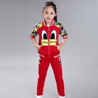 女童春装运动套装2019新款韩版时尚潮衣儿童时髦洋气中大童两件套