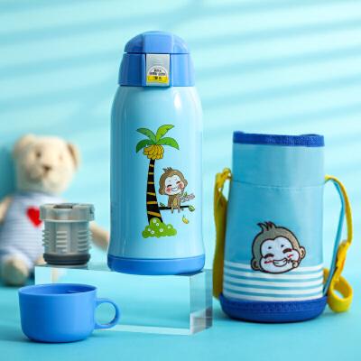 儿童保温杯带吸管两用水壶男女小学生幼儿园宝宝防摔水杯大容量