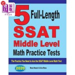 【中商海外直订】5 Full-Length SSAT Middle Level Math Practice Tests