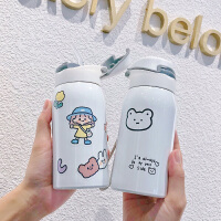 吸管保温杯水杯儿童简约少女心ins卡通学生便携小可爱女学生杯子