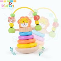 6-12个月婴儿玩具1-3岁宝宝儿童不倒翁彩虹塔叠叠乐套塔套圈