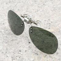 太阳镜夹片偏光镜夹片墨镜夹片钓鱼镜司机镜男女太阳眼镜片 新款日用不反光墨绿色