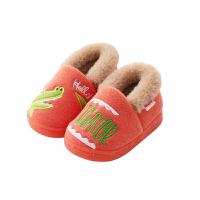 儿童棉拖鞋室内鞋秋冬托鞋fang滑家居鞋包跟男孩女孩